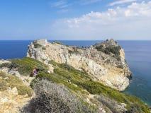 Kastro, Skiathos, Greece stock photo