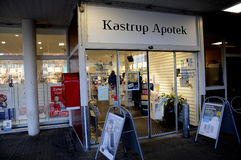 KASTRUP ΦΑΡΜΑΚΕΙΟ KASTRUP APOTEK Στοκ Εικόνες
