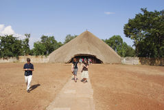 Kasubi Tombs Uganda. The Kasubi Tombs in of the Buganda Kindom in Uganda were burnt down on 16 March 2010. The straw buildings are home to the bodies of four Stock Photo