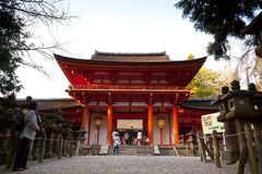 Kasuga shrine,nara japan. Kasuga shrine is world cultural heritage, 3000 stone lantern is features, in nara japan. Kasuga shrine will be removed and re Stock Photo