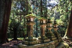 Kasuga-Taisha, heiligdom van duizend lantaarns, de prefectuur van Nara, Kansai, Japan stock afbeelding