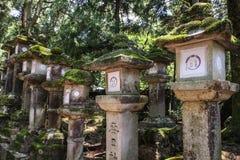 Kasuga-Taisha, heiligdom van duizend lantaarns, de prefectuur van Nara, Kansai, Japan stock fotografie