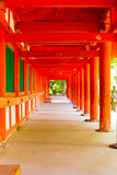 Kasuga-Taisha Outside Covered Hallway Repeating Stock Image