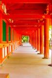 Kasuga-Taisha Outside Covered Hallway Repeating Stock Image