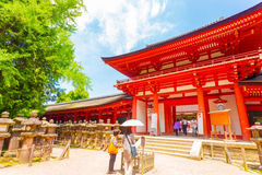 Kasuga-Taisha Shrine Front Door Blue Sky Nara H Royalty Free Stock Image