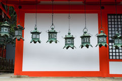 Kasuga Taisha shrine lanterns Stock Image