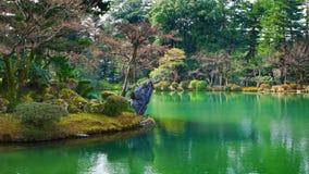 Kasumiga-ike池塘Kenrokuen今池 库存图片