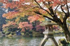 Kasumiga-ike Pond at Kenrokuen Garden in Kanazawa Royalty Free Stock Photos