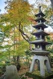 Kasumiga-ike Pond at Kenrokuen Garden in Kanazawa Stock Photo