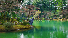 Kasumiga-ike Teich Kenrokuen Kanazawa Stockbild