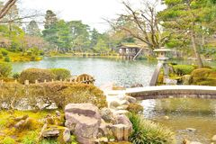 Free Kasumigaike Pond And Stone Lantern In Kenroku-en Garden Stock Photo - 86040290