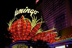 kasyna sławni flaminga las Vegas Obraz Royalty Free