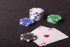kasyno, pieniądze, karty Obraz Royalty Free