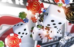 Kasyno Uprawia hazard ilustrację ilustracji