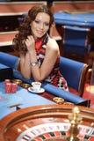 kasynowa kobieta Obrazy Royalty Free