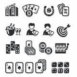 Kasynowe ikony ustawiać Fotografia Stock