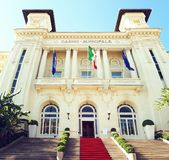 Kasynowego municipale sanremo piękny budynek obrazy royalty free
