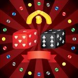 kasynowi kostka do gry royalty ilustracja