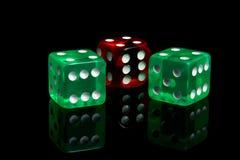 kasynowi kostka do gry Obrazy Stock