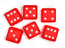 Kasynowi kostka do gry na bielu, 3D Obraz Stock