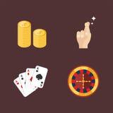 Kasynowy gemowy grzebaka hazardzisty symboli/lów blackjack grępluje pieniądze jokeru wektoru wygraną ruletową ilustrację Obraz Royalty Free