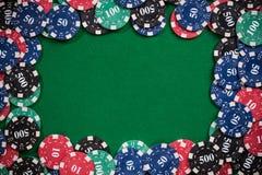 Kasynowy grzebak uprawia hazard szablonu tło fotografia royalty free
