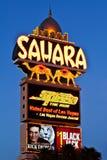 kasynowy hotelowy las Sahara znaka pasek Vegas Obrazy Royalty Free