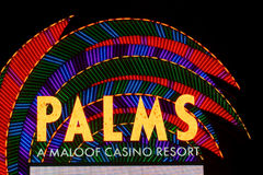 kasynowy las palm kurort Vegas Zdjęcia Royalty Free