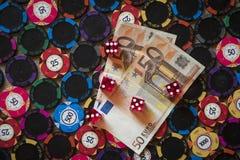 Kasynowy uprawiać hazard zdjęcie stock