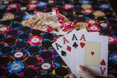 Kasynowy uprawiać hazard fotografia stock