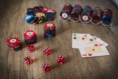 Kasynowy uprawiać hazard zdjęcie royalty free