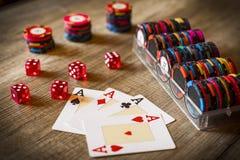 Kasynowy uprawiać hazard obraz stock