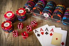 Kasynowy uprawiać hazard zdjęcia royalty free