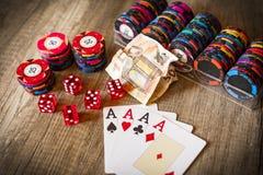 Kasynowy uprawiać hazard obrazy royalty free