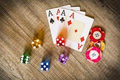 Kasynowy uprawiać hazard obraz royalty free