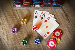 Kasynowy uprawiać hazard fotografia royalty free