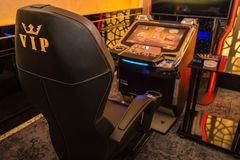 Kasynowy uprawia hazard pojęcie zdjęcia royalty free