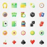 Kasynowych ikon jaskrawy set Zdjęcie Royalty Free