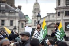 Kaszmir demonstraci Trafalgar kwadrat Londyn Zdjęcie Royalty Free