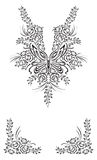 Kaszmir henny projekta moda ilustracja wektor