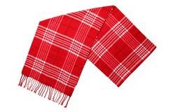 kaszmirowego szkockiej kraty czerwonego szalika czerwona wełna Fotografia Stock