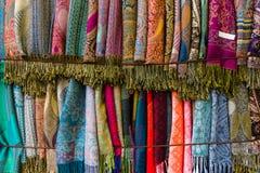 Kaszmirowi scarves Tło Obraz Royalty Free