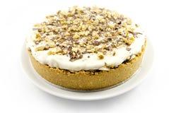 Kasztanu tort z śmietanką Fotografia Stock