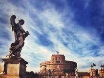 Kasztel Święty anioł, Rzym zdjęcie royalty free