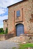 Kasztel Agazzano. emilia. Włochy. Obraz Stock