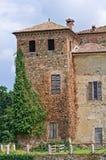 Kasztel Agazzano. emilia. Włochy. Zdjęcia Stock