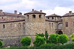 Kasztel Agazzano. emilia. Włochy. Obraz Royalty Free