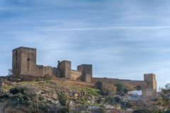 Kasztel Alcal De Guadaira w prowinci Seville, Andalusia Obraz Royalty Free