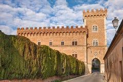 Kasztel Bolgheri w Tuscany, Włochy zdjęcie stock