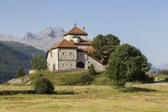 Kasztel bzdury da Sass, Silvaplana wioska, Szwajcaria Obrazy Royalty Free
